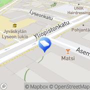 Kartta Kiinteistönvälitystoimisto Sisä-Suomen Asuntokeskus LKV Jyväskylä, Suomi