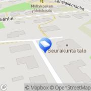 Kartta Kouvolan kaupunki Myllykosken neuvola Myllykoski, Suomi