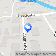 Kartta Kiinteistönvälitys ja -vuokraus Savon kiinteistömarkkinointi LKV Suonenjoki, Suomi