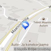Kartta Sähköasennusliike KK-Sähkö Maaninka, Suomi