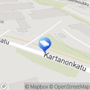 Kartta Kiinteistö Oy Kuopion Kartanonkatu 10 Kuopio, Suomi