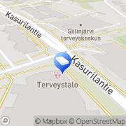 Kartta Siilinjärven Vapaa-aikakeskus Kiinteistö Oy Siilinjärvi, Suomi