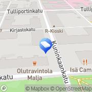 Kartta Ompelukoneliike Kone-Minna Kuopio, Suomi