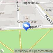 Kartta Asianajotoimisto Sarvi Koponen Lukkari Oy Kuopio, Suomi