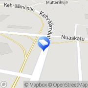 Kartta Teknologiapuiston Yhteishalli Kiinteistö Oy Kajaani, Suomi