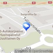 Kartta Pielisensuun Teollisuushallit Oy Joensuu, Suomi