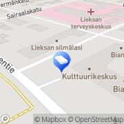 Kartta Asianajotoimisto Ryhänen Aulis Lieksa, Suomi