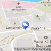 Kartta Joensuun Auto-Opisto Oy Enon toimipiste Eno, Suomi