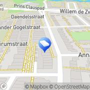 Kaart Ellerbeck Financieel Beheer Leiden, Nederland
