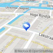 Kaart Pennenburg Loodgietersbedrijf Leiden, Nederland