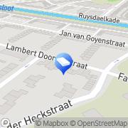 Kaart Ruiter Uitvaartverzorging De Alkmaar, Nederland