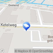 Kaart Visser & Smit Bouw BV Papendrecht, Nederland