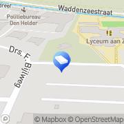Kaart Knuwer & Creutzberg Advocaten Den Helder, Nederland