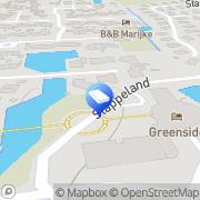 Kaart Vakantiebureau Texel De Koog, Nederland
