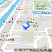 Kaart Scheuten Glasgroep BV Den Helder, Nederland