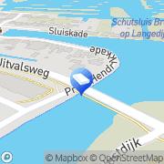 Kaart Huibers Houtbewerking Aannemersbedrijf BV Broek op Langedijk, Nederland