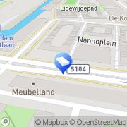 Kaart Kinderopvang Humanitas- Voorschool Bos en Lommer Amsterdam, Nederland