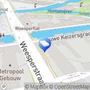 Kaart Lieshout Westerhout Advocaten Amsterdam, Nederland