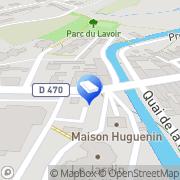 Carte de Centre Médico-Social Dsdd Bletterans, France