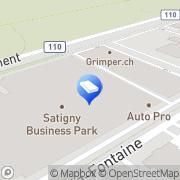 Carte de GF Machining Solutions Management SA, Headquarters Meyrin, Suisse