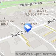 Karte Bembé Parkett Aachen, Deutschland