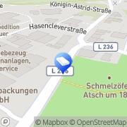 Karte Bougé Josef Metallbau Stolberg, Deutschland