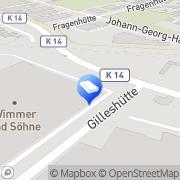 Karte Wimmer & Söhne GmbH - Internationale Spedition Korschenbroich, Deutschland