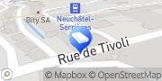 Carte de Minder & Co SA Neuchâtel, Suisse