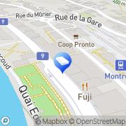 Carte de Coventi Montreux, Suisse
