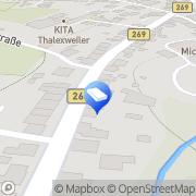 Karte Schreinerei Mesmer GmbH Lebach, Deutschland
