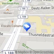 Karte Rechtsanwalt Hansjörg Theiss Köln, Deutschland