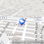 Carte de Bablon Valbonne, France