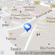 Karte Novis Bestattungen Krefeld Bochum, Deutschland