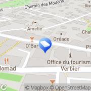 Carte de Verbier Location Verbier, Suisse