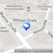 Karte EGBERS Innenarchitektur - Architektur Lingen (Ems), Deutschland