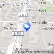 Karte Immobilienbörse Freiburg GmbH Freiburg im Breisgau, Deutschland