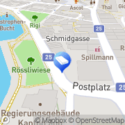 Karte Prime Property Lounge Zug, Schweiz