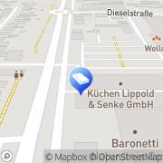 Karte Lippold GmbH Dreieich, Deutschland