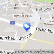 Karte Perfect Immobilien Winterthur, Schweiz