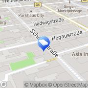 Karte SB Markt Textil und Wäsche Singen, Deutschland