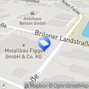 Karte Metallbau Figge GmbH & Co. KG Korbach, Deutschland