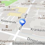 Karte Vollbrecht Schilder und Beschriftungen Rinteln, Deutschland