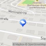 Karte Jürgen Brand Versicherungen u. Kapitalanlagen Obernburg, Deutschland
