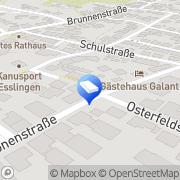 Karte Grosshans Wohnungsverwaltung Esslingen am Neckar, Deutschland