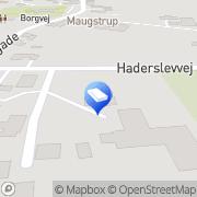 Kort Haderslev Entreprenørforretning Vojens, Danmark