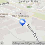 Karte Electro House Fabric Kirchheim unter Teck, Deutschland