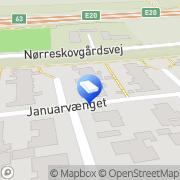 Kort FAJ Rengøring Kolding, Danmark