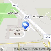 Kort Børnegården Hover Vejle, Danmark