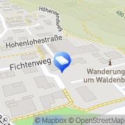 Karte Winandi & Partner Waldenburg, Deutschland