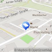 Karte Lettershop Seubert GmbH Würzburg, Deutschland